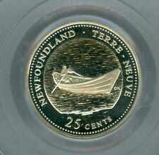 1992 CANADA NEWFOUNDLAND SILVER 25 CENTS PCGS PR69 ULTRA HEAVY CAMEO FINEST *