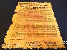 Irish 1916 Burnt Edges Proclamation Easter Rising Ireland - Irish Republic Print