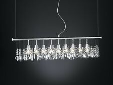 Lustre Lampe suspension Plafonnier argenté Luminaire moderne Lustre Cristal 5286