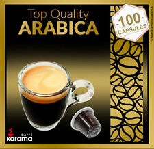 100 Italian NESPRESSO Capsules Compatible pods! 100% ARABICA! Karoma 02/19