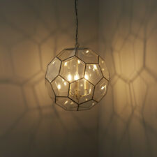 liberée MIELE Lampe Plafonnier suspendue 3x40w E14 Bougie hexagonal verre dalle