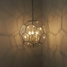 Endon Miele Pendant Ceiling Light 3x40W E14 Candle Hexagonal Glass Panels Brass