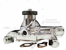 High Volume Short Water Pump for Chevy Small Block CHROME Aluminum SHIPS FREE