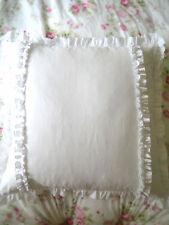 Shabby Chic Country Farmhouse White Ruffles European Cushion Pillow Cover Sham