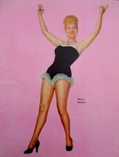 Betty Grable 1953 Vintage Pinup Litho Frank Powolny Photo Publicity Promo COA