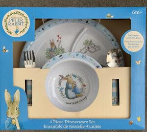 Beatrix Potter Peter Rabbit Classic 4pc Dinnerware Set NEW