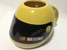 2004 YELLOW NASCAR Racing Helmet Coffee Cup Mug