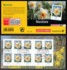 Bund Markenheftchen 61 gest. Blumen 2006 Narzisse Vollstempel Bremen Ersttag