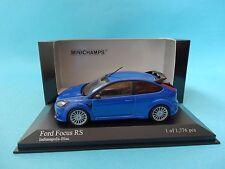 FORD FOCUS RS 2009 - BLUE METALLIC / AZUL - 1/43 NEW MINICHAMPS 400088101