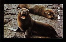 "QSL ""HCJB"" Radio Quito Sea Wolf Galapagos Shortwave DX SWL 1972"