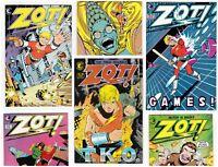 Lot Of 10 ZOT! Vintage Bronze Age Comic Run 1-10 1984 Scott McCloud Kurt Busiek