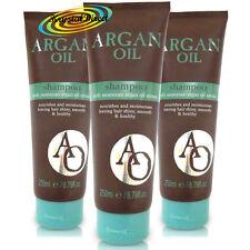 3x OLIO DI ARGAN SHAMPOO 250ml Olio di Argan Marocchino estratto Lucenti Lisci sani i capelli