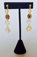Antica Murrina Eldorado--Murano Glass Stone Drop Earrings