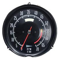 1972 1974 Corvette Tachometer Mechanical 5600 Redline New