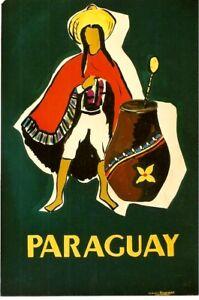 Original vintage poster PARAGUAY GAUCHO PAINT ORIGINAL c.1950