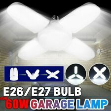 60W Led Garage Light Bulb Deformable Ceiling Fixture Lights Shop Workshop Lamp