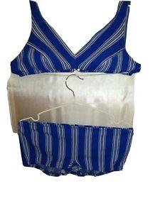 Vintage swimsuit 34b top/ 10/12 bottoms/ slix/ vintage/ beach/20s/30s made in uk