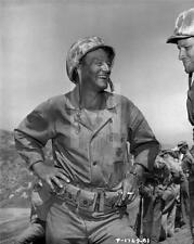 JOHN WAYNE WW2 SANDS OF IWO JIMA 1949 CANDID 8x10 PHOTO RE74
