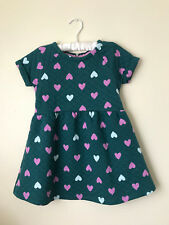 Gymboree Size 4 Heart Print Green Quilted Dress Girls Clothes