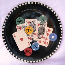 Signature Riviera Van Beers Got Game Casino Poker Chips Platter Chop Plate 2005