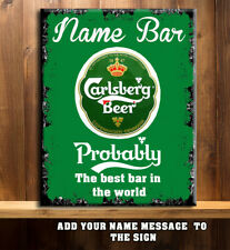 PERSONALISED HOME  BAR SIGN LARGER BEER MAN CAVE SHED Metal Wall Retro RS160