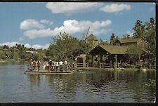 VINTAGE DISNEYLAND CA POSTCARD TOM SAWYER ISLAND ADVENTURELAND LOG RAFT 01110291