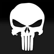 The Punisher Skull White Decal Window Sticker Marvel Comics TV, Movies & Music