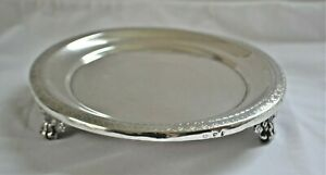 Antique Hand-Wrought Spanish Colonial Coin Silver Footed Salver Tray S America