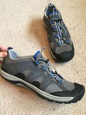 Lands End Mens Water Proof Outdoor Sneakers Blue/Grey/Black  Size 11.5 D