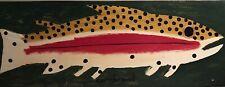 "John ""Cornbread"" Anderson Original  ""Rainbow Trout"" Folk Outsider Art Painting"