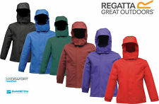 Regatta Kids Squad Boys Girls Waterproof Fleece Lined School Jacket RRP £30