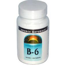 B-6, Source Naturals, 250 tablet 100 mg