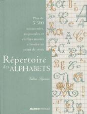 Répertoire des Alphabets au point de croix Valérie Lejeune 5500 caractères