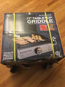 Blackstone 1814 Tabletop Griddle with Stainless Steel Front Plate and Hood 17""