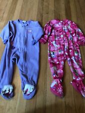 The Childrens Place Kid Squad Fleece Pajama Lot Pink Purple 18 Months