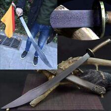 QiJiGuang Sword Folded pattern steel blade Sharp martial arts Broadsword #4253