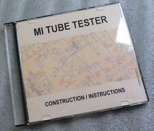 Tube Valve Tester - DVD - Make Build your own - Avo VCM - Heathkit