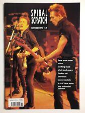 SPIRAL SCRATCH MAGAZINE NOV 1990 THE CLASH, BOW WOW WOW, HUSKER DU, VIBRATORS