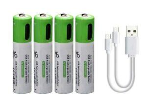 4 x AAA Batteries Rechargeable via USB Type-C Lithium-Ion Li-Ion 1.5v 450mAh
