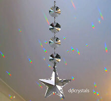 Appendere Crystal Suncatcher Feng Shui ARCOBALENO Prisma Stella con SWAROVSKI OTTAGONI