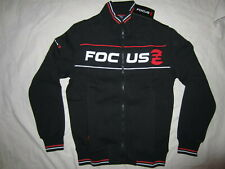 NEW - Focus Retro Zip Jacket, Thick Fleece, Black, S
