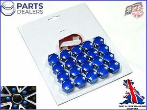 WHEEL NUT COVERS FOR JAGUAR S X TYPE XF XK XE XJ XK BLUE BOLT CAPS 19mm