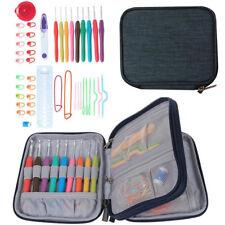 45Pcs Knitting Crochet Hooks Set Needle Yarn Organiser Case Kit Craft Tool Set