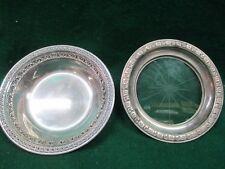 "Vintage Reed & Barton 6"" Silver plated Bon Bon Bowl 1203 + Glass Bottom #1796/H2"