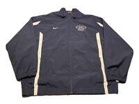 Nike FAU Florida Atlantic Baseball Full Zip Jacket Size XL Blue Windbreaker