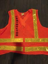 ML Kishigo contractor reflective orange Safety Vest size Large