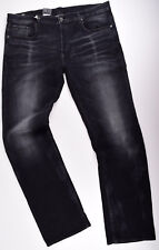 G-STAR RAW, 3301 Loose Jeans W40 L36, Jeanshose Black Stretch Denim