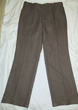 Haband's Fit Forever Mens 38 L Gray Stretch Flat Front Straight Leg Pants (72)