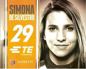2015 SIMONA DE SILVESTRO TE INDIANAPOLIS 500 PHOTO CARD POSTCARD INDY CAR HONDA