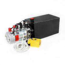 10 Quart 12V Single Acting Hydraulic Power Pack Power Pump for Crane Lifting